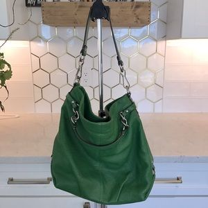 Coach leather hobo -Kelly green